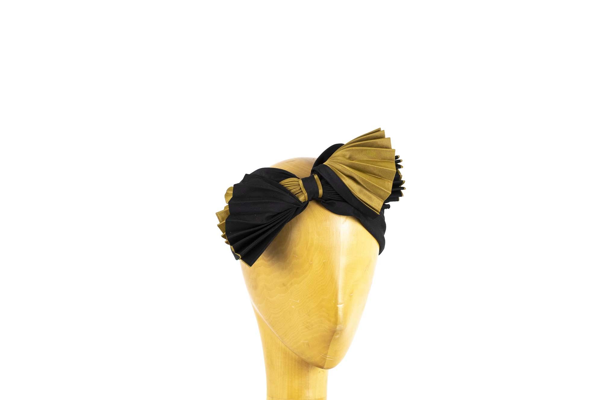 FASCIA FIOCCHI AW1920 silk plissè nero-oro