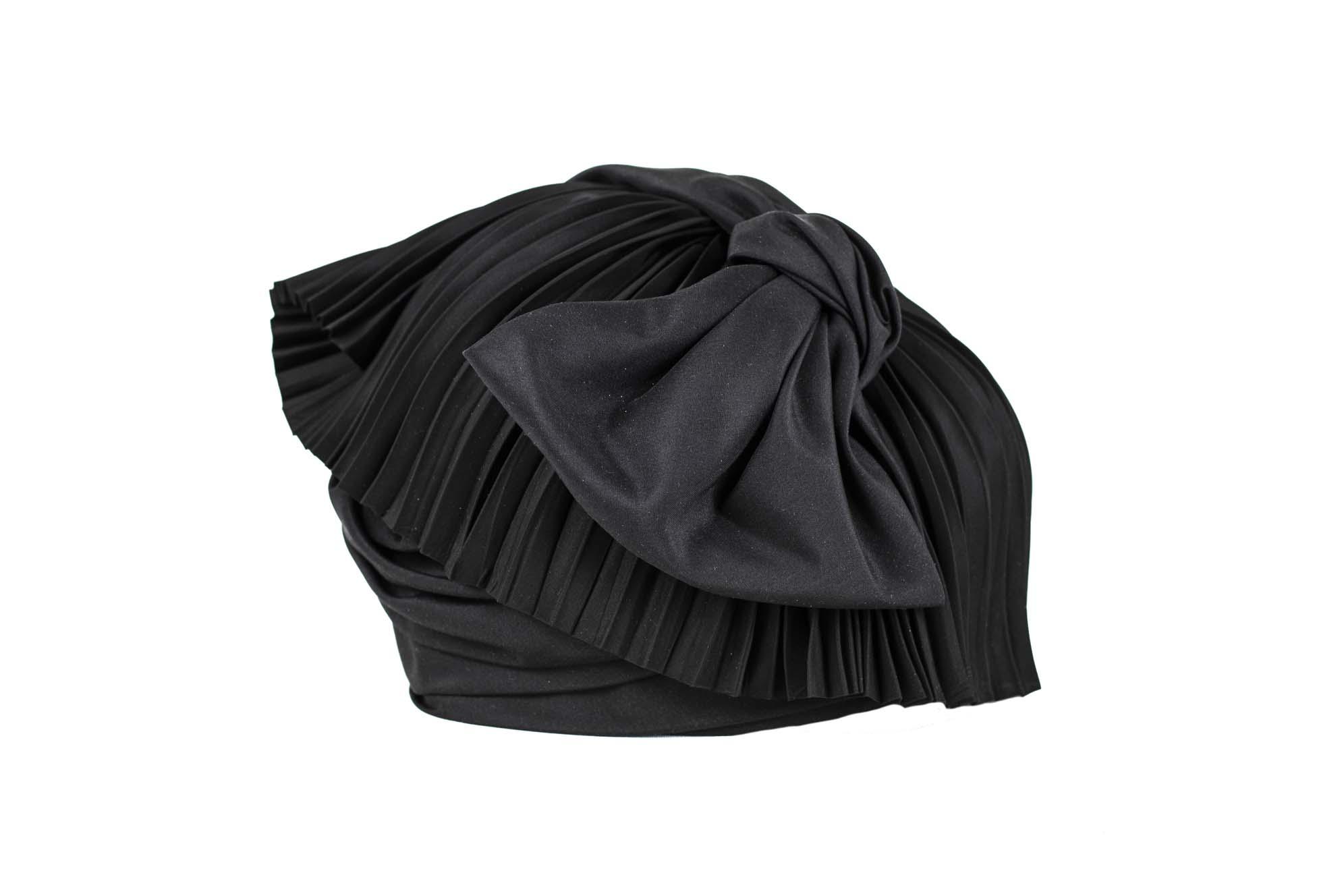 TURBANTE AQABA AW1920 silk plissè nero