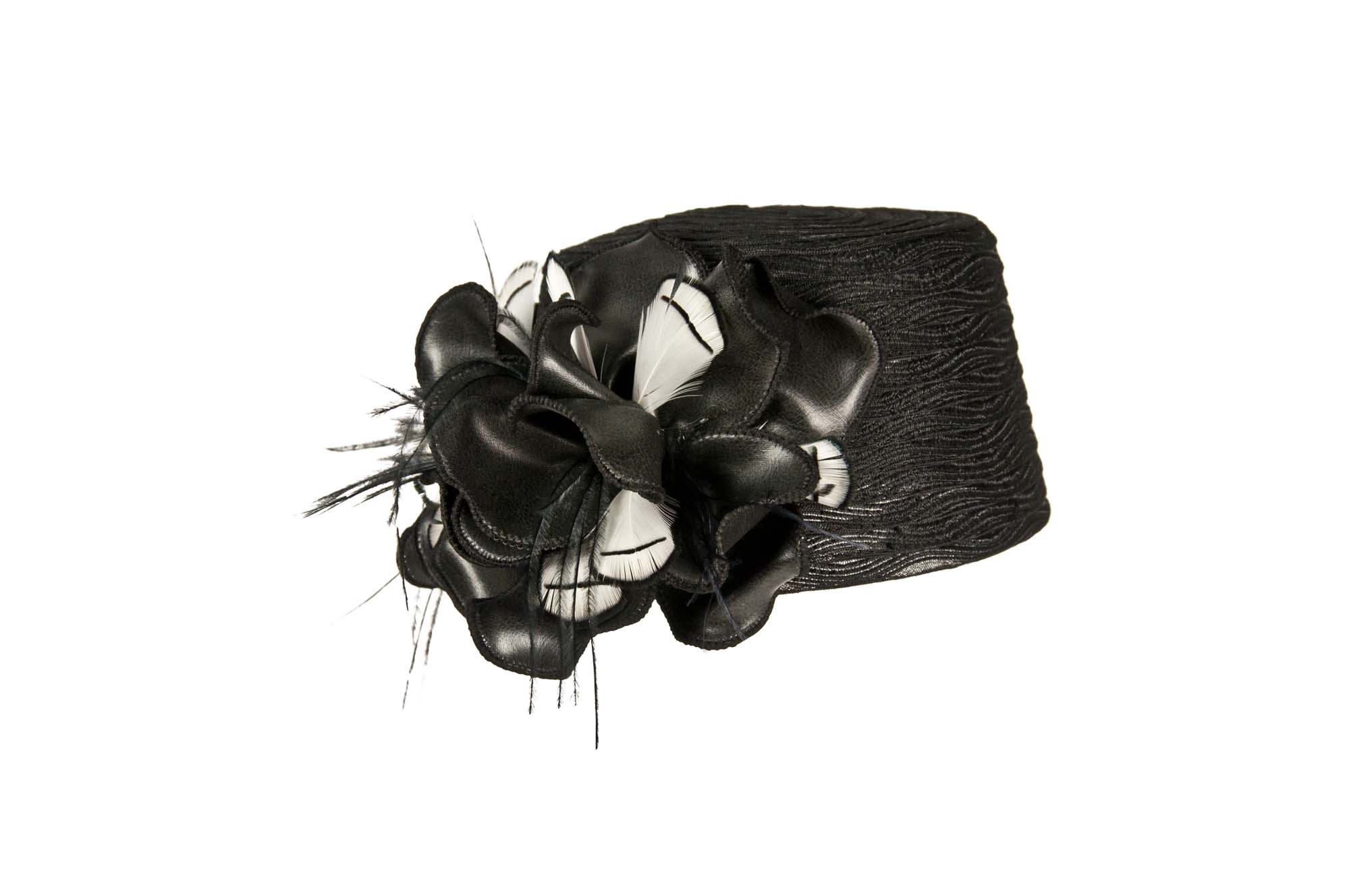WITCH HEAD SS16 Crinonde eco-Leather Flower Black